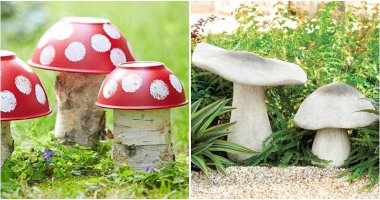 Creative and Cute Garden Mushroom Ideas