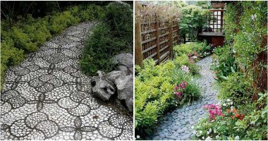 29 Adorable Pebble Garden Paths