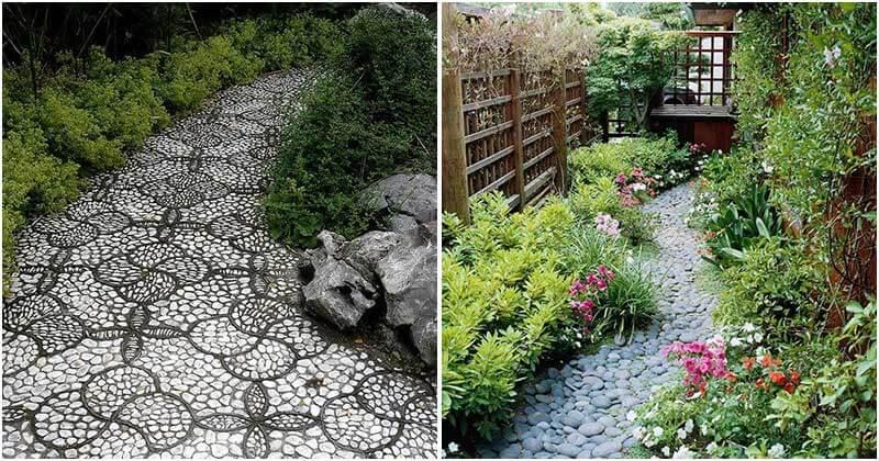 29 Adorable Pebble Garden Paths