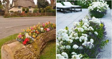 26 Appealing and Creative Flower Bed Ideas
