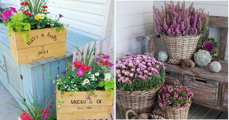 23 Pretty Front Door Flower Pots To Add Personality For Your Home