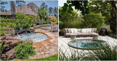 25 Beautiful Landscaping Ideas With hot Tubs