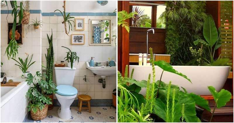 30 Refreshing Your Bathroom Interior Ideas With Plants