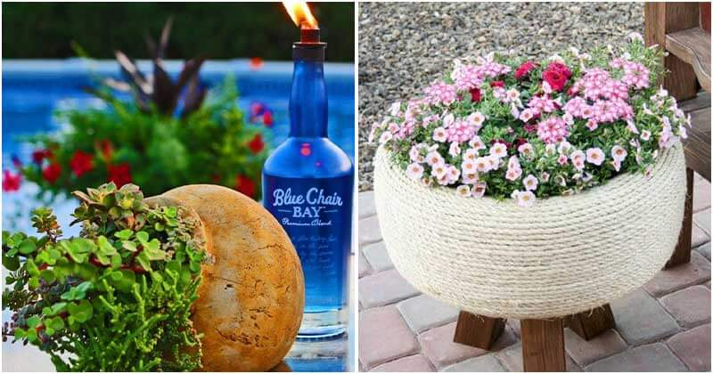 24 Creative Recycled Ideas For A Beautiful Yard on a Budget