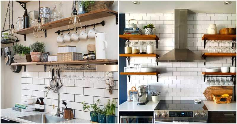 27 Open Kitchen Shelving Ideas