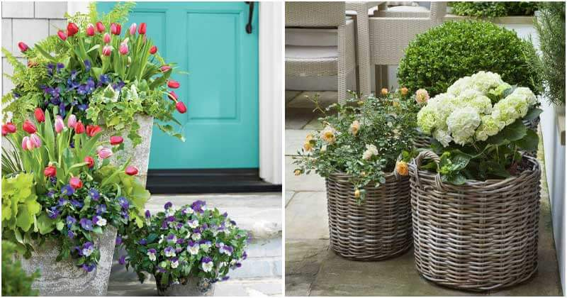 29 Eye-Catching Planter Ideas To Place On Your Porch