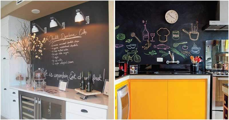 27 Creative Chalkboard Ideas For Your Kitchen Décor