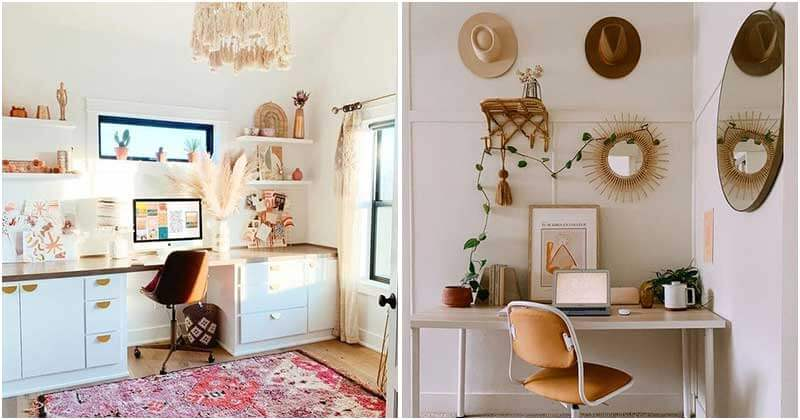 30 Floppy and Refined Boho Chic Home Office Ideas