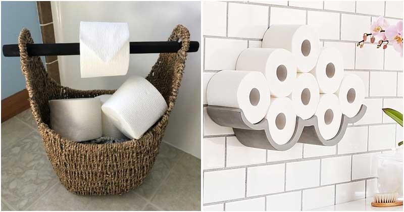 25 Unique Toilet Paper Holder Ideas