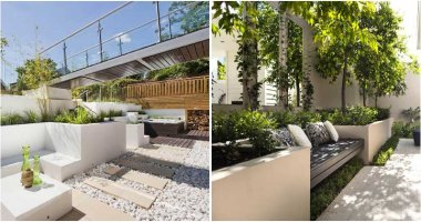 20 Mind-blowing Concrete Built-in Planters for Your Garden