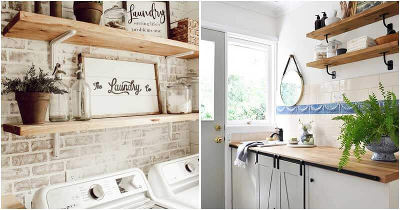 29 Ideas to Decor Your Laundry Room a Vintage Style