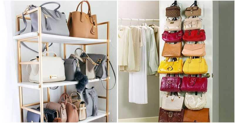 20 Bag Storage Ideas To Save Your Living Space
