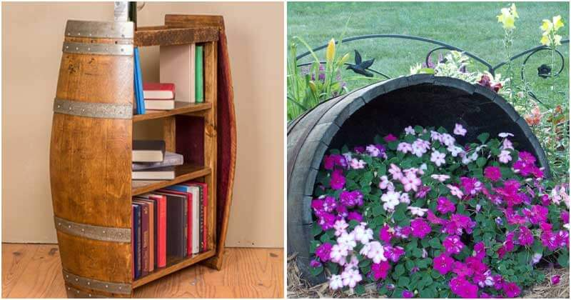 25 Smart DIY Wine Barrel Project For Garden and Home
