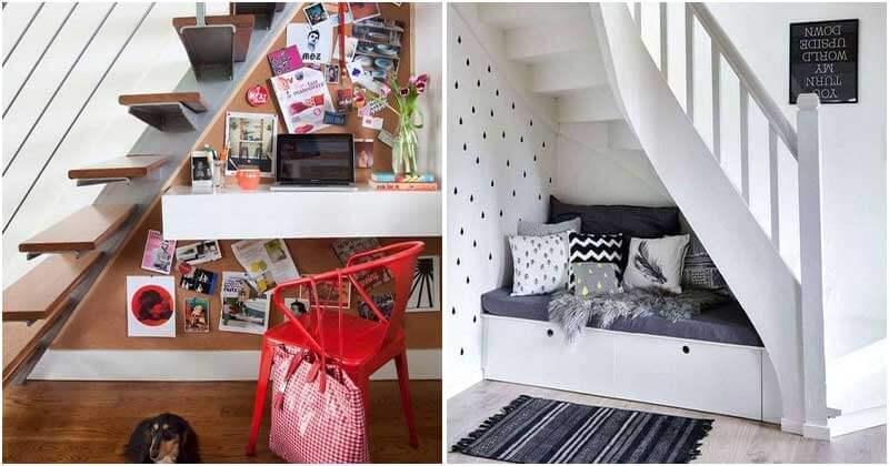 20 Creative Storage Ideas Under Your Stair