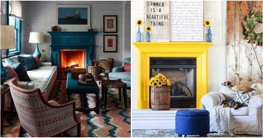 25 Vivid and Jaw-Dropping Colorful Fireplace Ideas