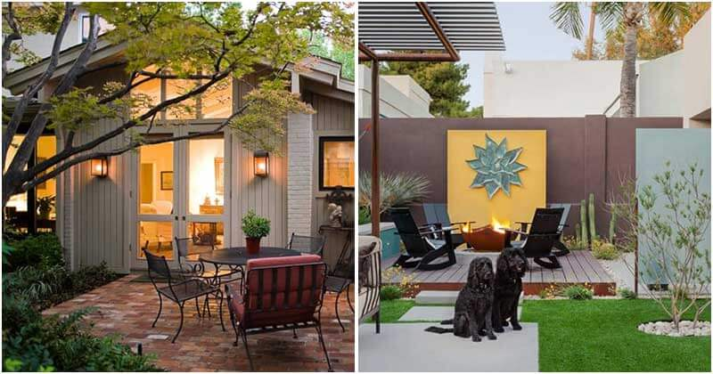 25 Adorable Relaxing Mid-Century Outdoor Space Ideas