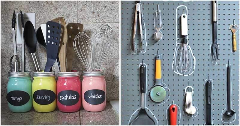 26 Creative DIY Kitchen Utensil Holders