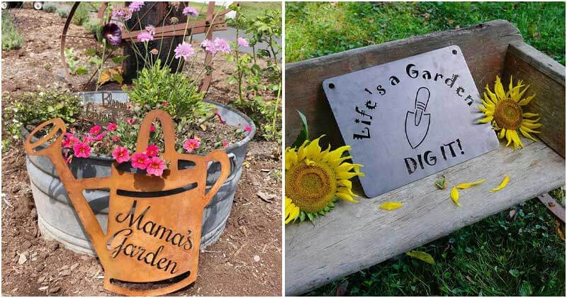 30 Cool Sign Ideas to Make Your Garden More Interesting