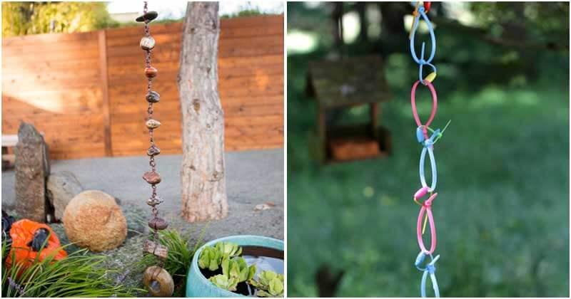 18 Fabulous Rain Chain Ideas To Add Charm In The Garden