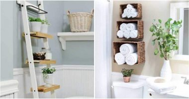24 Clever Bathroom Shelf Ideas to Keep Saving Your Space