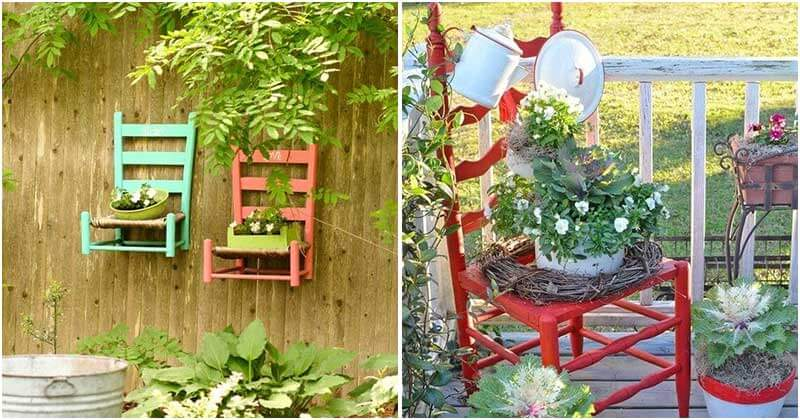 Creative Upcycled Chair Planter Ideas