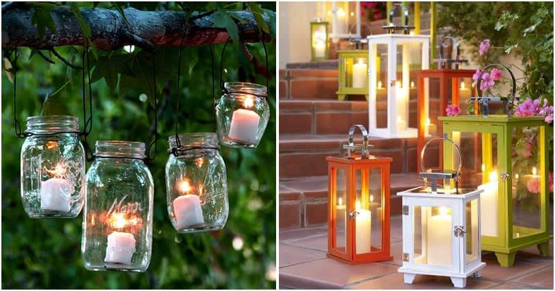 Eye-catching Candle Ideas to Add Charm In The Garden