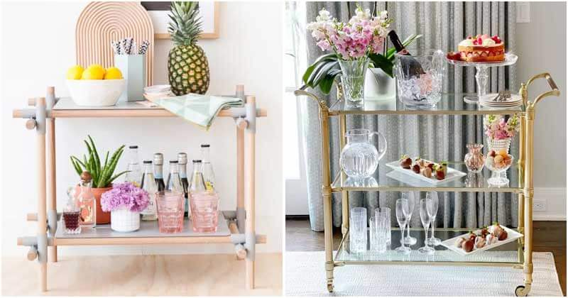 Breathtaking Bar Cart Ideas to Add Cool Style For Your Home