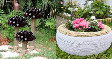 Unique Ideas Using Recycled Items to Dress Up Your Garden