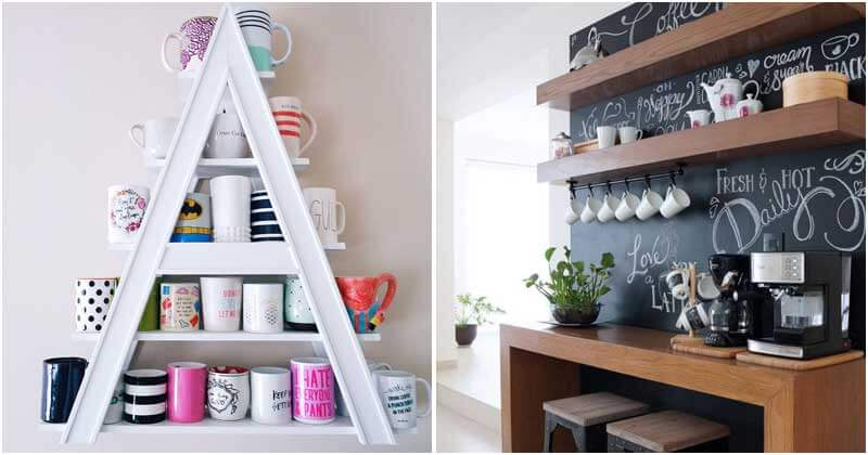 22 Coffee Mug Holder Ideas To Keep Cleaning Your Kitchen From Clutters
