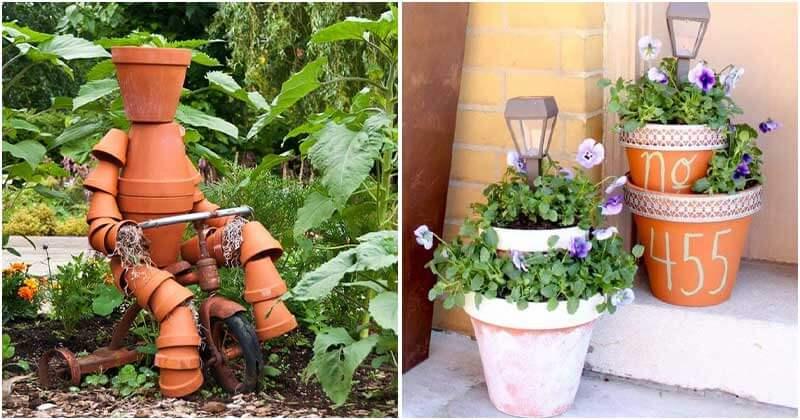 23 DIY Clay Flower Pot Craft Ideas Add Fun To The Garden