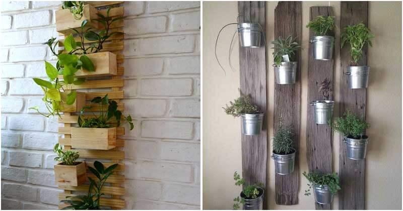 Brilliant Vertical Wooden Board Garden Ideas