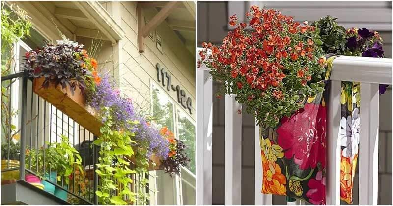 18 DIY Railing Planter Ideas For Your Balcony