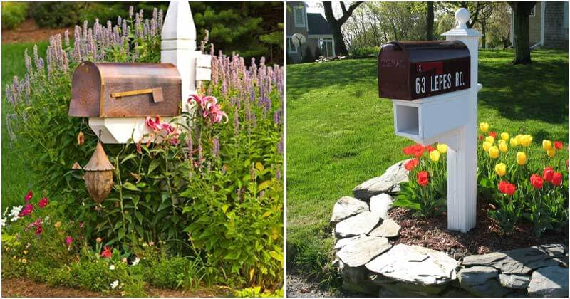 22 Eye-Catching Flower Bed Projects Around Your Mailboxes