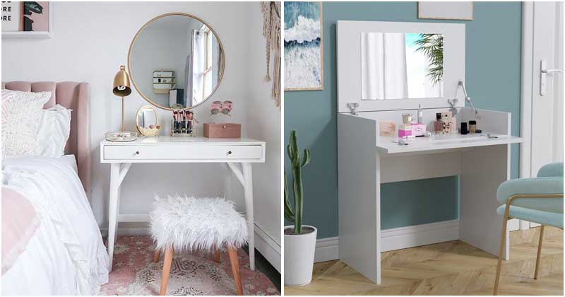 Shimmering Makeup Vanity Ideas For Your Small Bedrooms