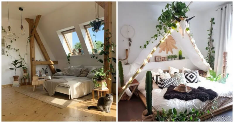 30 Inspirations of Charming Bedroom Decorating Ideas With Plant Theme