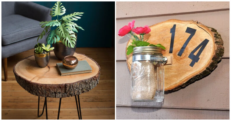 22 Creative Wood Slice Decoration Projects To Add Rustic Charm