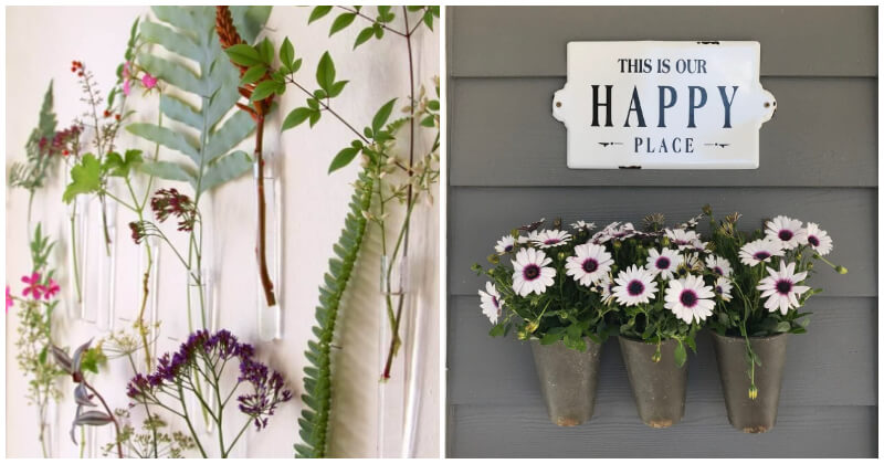 23 Impressive Hanging Vases and Planter Ideas To Decorate Your Boring Wall