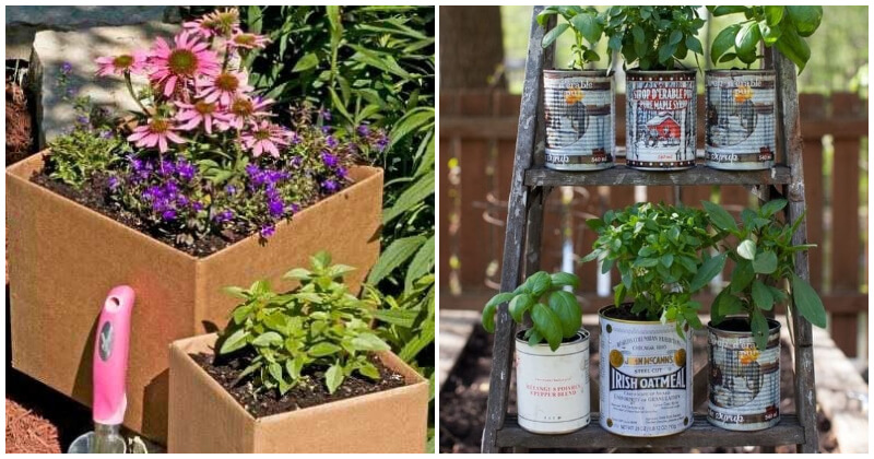 23 Clever Repurposed Garden Containers Ideas