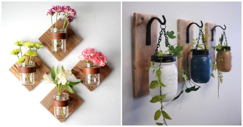 29 Mind-blowing Mason Jar Wall Decor Ideas