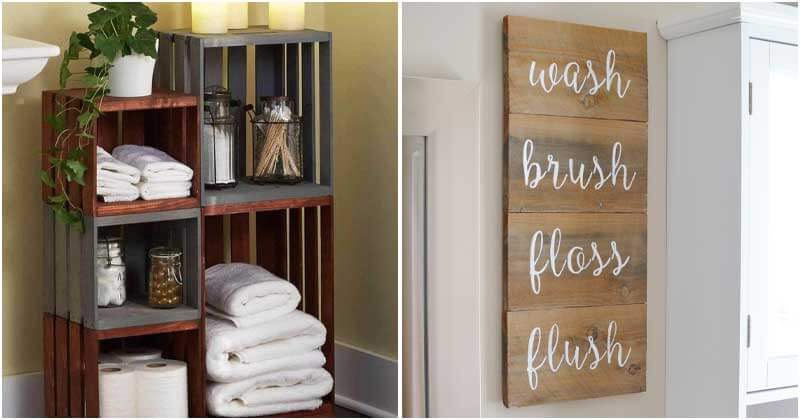 Pallet Project Ideas To Decor Bathroom