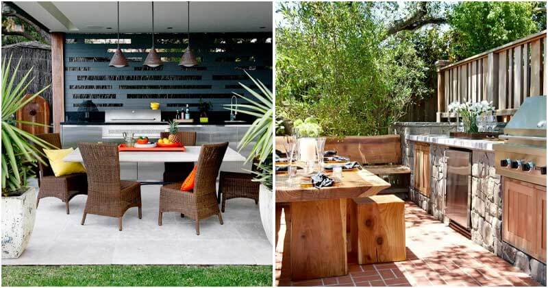 26 Dreamy Outdoor Kitchen Ideas For Those Who Love Nature