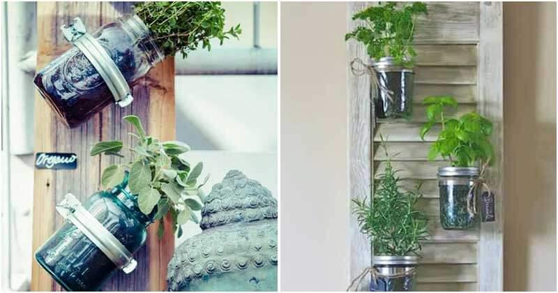 21 Upcycled Mason Jar Garden Ideas For Your Plants