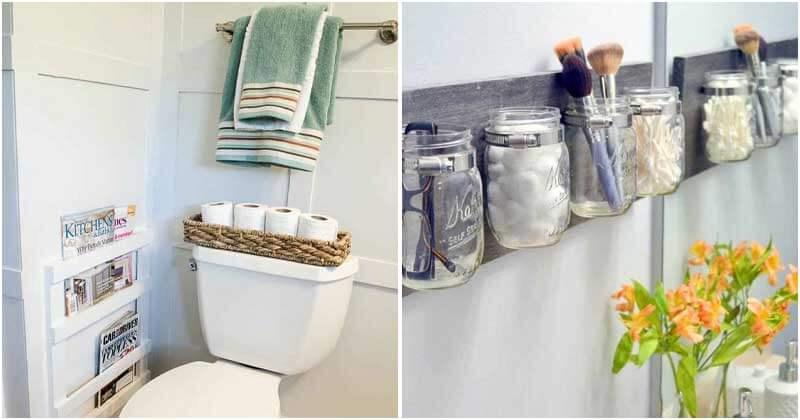 20 Easy Bathroom Organizing Ideas