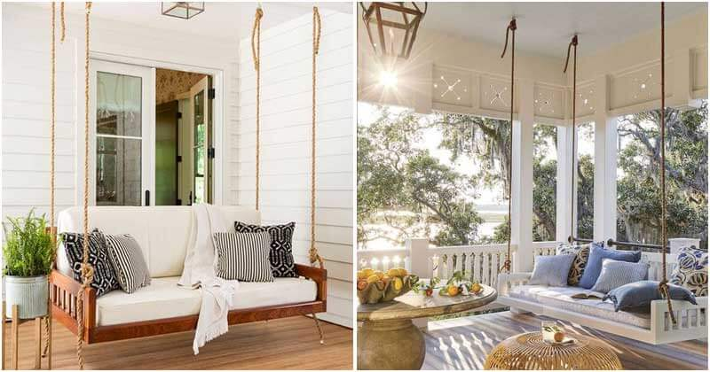 24 Gorgeous Hanging Swing Bed Ideas For Relaxing