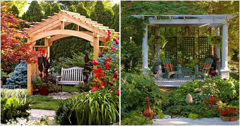 20 Pergola Ideas To Make Privacy Space In The Garden