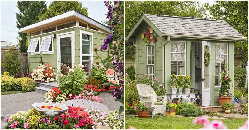 27 Gorgeous Garden Shed Ideas As Ideal Outdoor Oasis