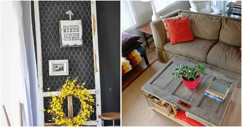 Creative Ideas to Elevate Old Doors into Decorative and Useful Items In Your Home