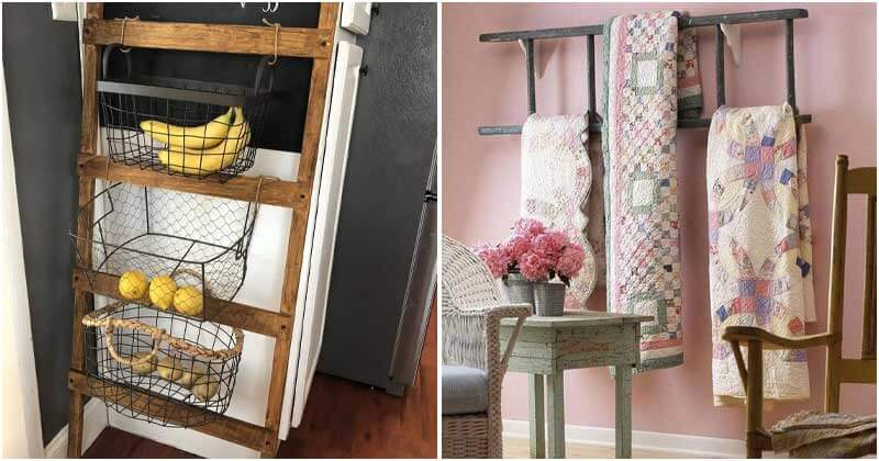 Wooden Blanket Ladder Ideas In Your Home