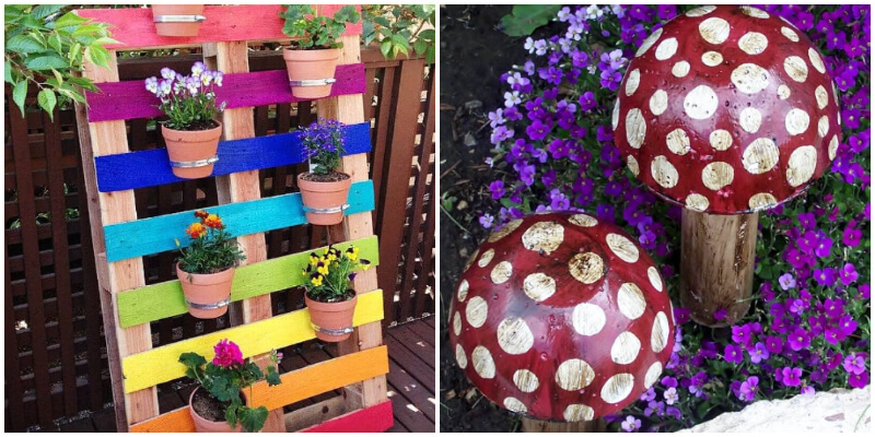 Cool and Creative DIY Painted Ideas for a Colorful Garden