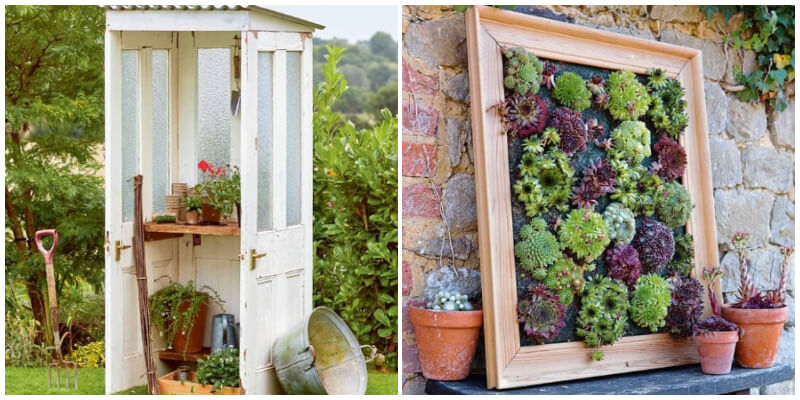 Old Door and Window Projects For Decorating Garden